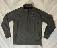 Lululemon Mens Jacket -Grey Large Waterproof Zippers - Bomber Style Running