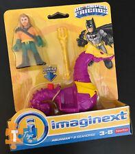 """Aquaman & Seahorse Imaginext 2017 DC Super Friends Action Figure Set """"NEW"""""""