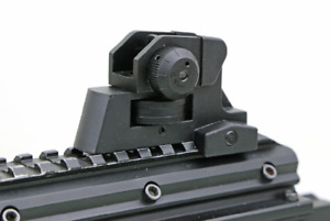 US Seller! Adjustable Iron Rear Sight Set Post Fixed Match-Grade 20mm Rail