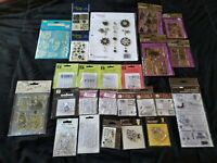 Lot Of 25 sets Clear Stamps Mixed Lot New! FREE SHIPPING!