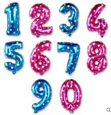 """16"""" (35-40cm) Pink/Blue Number Foil Balloons"""