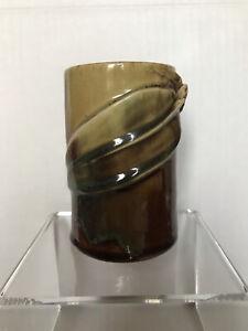 REMUED CYLINDER GUM LEAF VASE 10 cm High WELL SIGNED