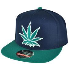 Weed Marijuana Snapback High Smoke Cannabis Blue Experience Washington Hat Cap