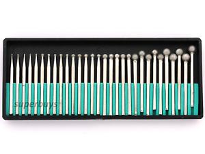 30pc Ball Head Diamond Engraving Engraver Cutter Dremel Rotary Tool Drill Bit