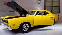 """G LGB 1:24 Maßstab Gelb Dodge Coronet """" 1969 Motormax Druckguss Modell Auto"""