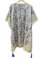 Indian Cotton Short Maxi Boho Caftan Short Kaftan Night Dress Poncho Beach Wear