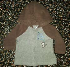 BABY BOYS Sz 00 brown TARGET hooded jacket COOL! CUTE! WARM! MONKEY!
