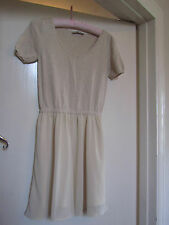 Cream Knitted Cotton Top with Soft Skirt Part Oasis Dress Size XS / Size 6 - 8
