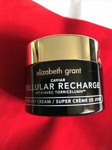 Elizabeth Grant Caviar Cellular Recharge Super Day Cream 50ml With Pouch Rrp £49