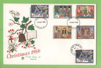 G.B. 1986 Christmas set on double date Stuart First Day Cover, London WC/SW16