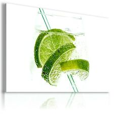 LIMES DRINKS GLASS ALCOHOL Canvas Wall Art Picture Large DR33    MATAGA