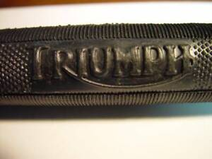 "Triumph Logo, Motorcycle,  7/8"" Handlebar Grips. 6"" Long, UK"