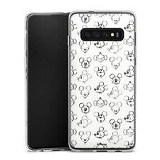 Samsung Galaxy S10 Plus Silikon Hülle Case - Mickey Vintage Pattern