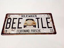 VOLKSWAGEN Beetle Auto Targa/Beatle Wall Decor Vintage Sign Tin Placca