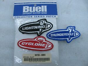 New Harley Davidson Buell Patch Set Patches Lightning Thunderbolt Cyclone