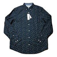 NWT Original Penguin Men's Shirt Long Sleeve Button Down Size Large