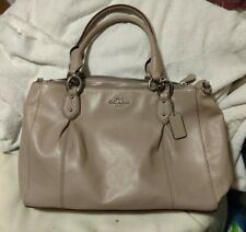 Coach Colette Leather Gray/Looks Lt Purple Crossbody Shoulder F33447 GUC
