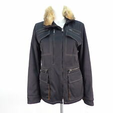 FAY Übergangsjacke Windjacke Echtfell Gr. S schwarz Damen Jacke Jacket