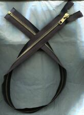 27 inch Black & Brass Metal #5 Separating YKK Zipper New!