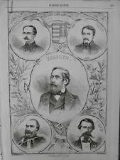1861 HONGRIE KOSSUTH TURR SZECHENYI DEAK TELEKI PORTRAIT HOMMES CELEBRES