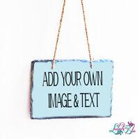 Personalised Hanging Slate | Customised Slates | Photo Slate | Fathers Day
