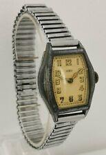 Vtg SIRO Oris WW1 Art Deco Trench Chrome Case Oversized Gents Wrist Watch Cal 92