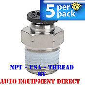 5 Straight fitting 8mm x 1/8 NPT USA Thread - Triumph Ranger Atlas tire changer