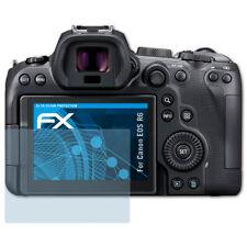 atFoliX 3x Schermbeschermer voor Canon EOS R6 Screen Protector duidelijk Folie