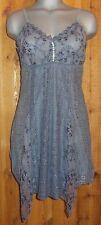 NWT PRETTY ANGEL cami intimate sexy TANK TOP TUNIC SHIRT dress gray Large LACE