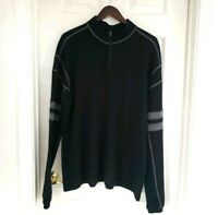 Kuhl Men's Merino Wool 1/4 Zip Pullover Sweater Gray 2XL XXL