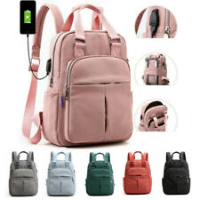 Fashion Durable USB Backpack Women Anti Theft School Travel Daypack Laptop Bags