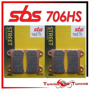 Pasticche Anteriori SBS HS Sinter Per DUCATI SS SUPERSPORT 750 2002 02  (706 HS)