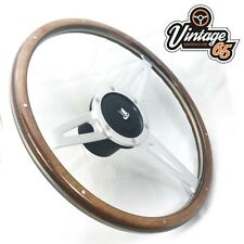 "Triumph Spitfire >1976 15"" Classic Wood Rim Steering Wheel Badged Boss Kit Horn"