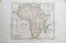 AN III : CARTE DE L'AFRIQUE Par Robert de Vaugondy et Lamarche empire Napoléon