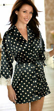 Next - Dannii Minogue Womens Sexy Silky Satin Polka Dot Dressing Gown Size Small