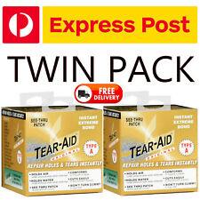 2  x Tear Aid Type A Repair Patch 5ft Roll Transparent Self Adhesive Repair Tape
