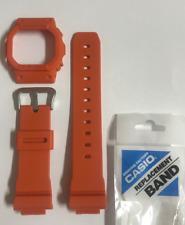 CASIO Original G-shock Watch Band  DW-5600M-4 Orange Strap & Bezel  DW5600M