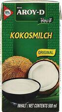 Aroy-D Kokosmilch Kokosnussmilch Sahne-Ersatz Kochen 14x 500ml MHD 14/10/2020