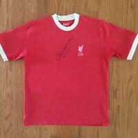 Autographed Liverpool Football Club Ringer T Shirt Sz XL Originals Soccer Signed
