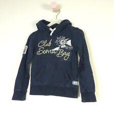 SOCCX Sweatshirt Hoodie Kapuze Blau Gr. 110 116 (HG73)