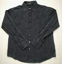 Vtg 90's BKE Slim Fit XL long sleeve button down shirt black/white zebra stripes