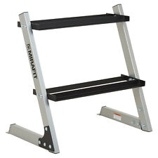 Mirafit 2 Tier Hex Dumbbell Weight Rack 150kg Storage Tree Gym Stand Silver