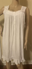 Eileen west nightgown XLarge Modal Spandex   Blend no  Sleeves White