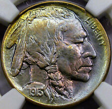 1913-D Type 1 Buffalo Nickel Gem BU NGC MS-64 CAC... Beautiful COLOR, Very NICE!
