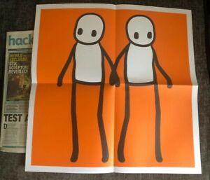STIK Hackney holding hands print orange
