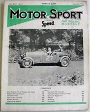 MOTOR SPORT/ Speed Magazine Vol 22 No 9 Sep 1946