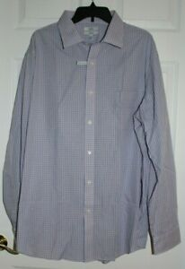 MEN'S SZ 18-1/2(36/37) LS BUTTON FRONT SHIRT by CROFT & BARROW-NEW WITH TAGS