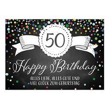 Gluckwunschkarte 50 Geburtstag Gunstig Kaufen Ebay