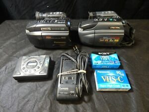VINTAGE PANASONIC VIDEO RECORDER ELECTRONICS LOT PALMCORDER CASSETTE PLAYER
