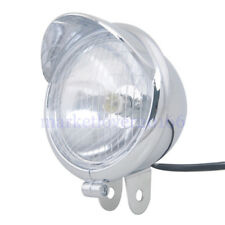 Chrome Motorcycle Bullet Headlight Light For Harley Choppers Honda  Chopper